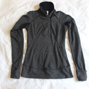 Lululemon Think Fast Herringbone Jacket Gray Sz 2